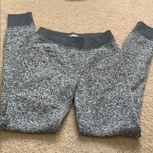 Grey black and white speckled joggers